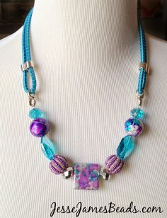 Jesse James Beads: How to Make A Bungee Cord Necklace