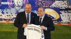 """Rafa Benitez si presenta al Real Madrid: """"Sono senza parole. E' un giorno emozionante"""" - http://www.maidirecalcio.com/2015/06/03/rafa-benitez-si-presenta-al-real-madrid-sono-senza-parole-e-un-giorno-emozionante.html"""
