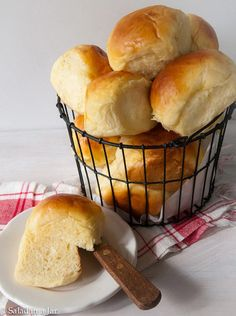 A sweet and soft yeast roll in the same style as my favorite Hawaiian bread at the grocery store. Mix it in your bread machine.