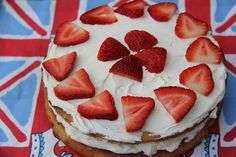 Strawberries and Cream Victoria Sponge Cake (Almond Flour) Almond Flour Cakes, Baking With Coconut Flour, Almond Flour Recipes, Strawberry Cream Cakes, Strawberries And Cream, Healthy Desserts, Just Desserts, Paleo Treats, Paleo Food
