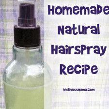 Homemade natural hairspray recipe from wellnessmama