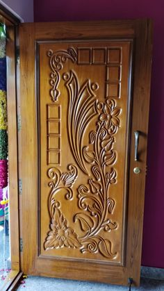 Beautiful CNC carved MDF panels to add a Unique Touch to You.- Beautiful CNC carved MDF panels to add a Unique Touch to Your Projects Beautiful CNC carved MDF panels to add a Unique Touch to Your Projects - Pooja Room Door Design, Front Door Design Wood, Wooden Door Design, Wood Doors Interior, Door Gate Design, Door Glass Design, Room Door Design