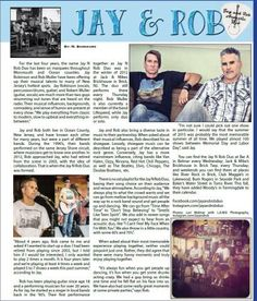 Jay & Rob Duo perform throughout Monmouth and Ocean counties