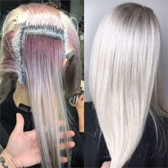 COLOR CORRECTION: Old Fashion To Hot Ice - Hair Color - Modern Salon