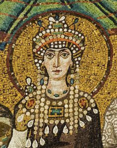 Theodora mosaic - Basilica San Vitale (Ravenna) - photo by Petar Milošević - Basilica of Saint Vitalis, CC BY-SA 4.0, https://commons.wikimedia.org/w/index.php?curid=40035957