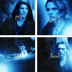 """Jace Wayland (played by Jamie Campbell Bower) of The Mortal Instruments: City of Bones. Really the quote is about him, he's not saying it, obviously. """"Jace is in love with the idea of dying."""" ~ Alec Lightwood (played by Kevin Zegers)"""