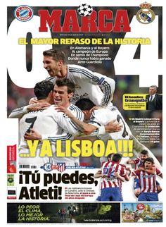 El Madrid llega a la final de la Champions 2014 tras golear al Bayern 0-4