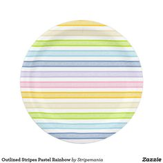 Outlined Stripes Pastel Rainbow Paper Plate  sc 1 st  Pinterest & Soft Pink and White Stripes Paper Plates | Products