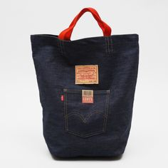 Upcycled jeans - use leg to make a tote bag