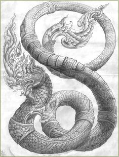 love the detail in this for the Naga part of the tattoo Cambodian Tattoo, Khmer Tattoo, Thai Tattoo, Thailand Tattoo, Thailand Art, Buddha Tattoos, Body Art Tattoos, Sak Yant Tattoo, Japan Tattoo