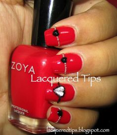 LACQUERED TIPS: Valentine's Day Nails 4
