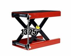 http://stores.ebay.com/rafunlimited/ 1100 LB Wide Deck Motorcycle Center Scissor Lift Jack Hoist Stand Bikes ATVs #DragwayTools