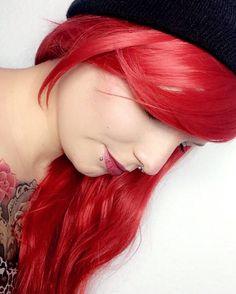 #redhead #me #selfie #piercing