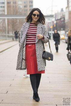 4. That #Skirt - Fabulous Street #Style Photos from New York #Fashion Week Fall 2015 ... → Fashion #Fabulous