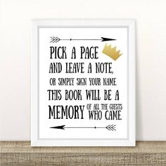 PRINTABLE Where the Wild Things Are Guest Book Sign Baby