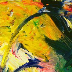 CONTEMPORARY-WALL-ART-Abstract-Painting-Acrylic-on-Canvas-YELLOW-HORSE