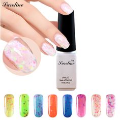 Saroline Gel Nail Choose Any 1 Bottle 7ml Cheese Candy professional UV Gel Nail Lacquer Top Base Coat Milky Polish #Affiliate