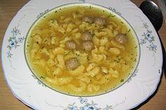 Eintropfsuppe - Suppeneinlage aus Eiern und Mehl