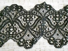 Victorian Black Lace Trim. $36.00, via Etsy.
