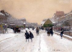 Luigi Loir (1845-1916), Paris sous la Neige.