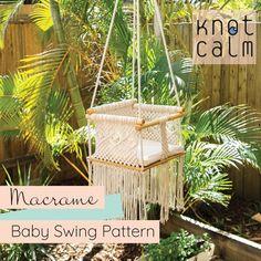 Baby Hammock, Baby Swings, Macrame Chairs, Cotton Cord, Macrame Patterns, Crochet Patterns, Pdf Patterns, Free Pattern, Good Tutorials