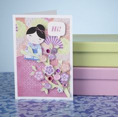 Japanese-inspired patterned papers and toppers for your cards – free to download and print!