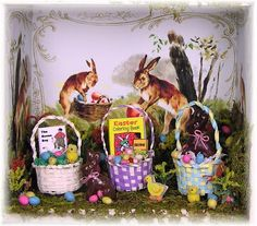 Mini Easter Craft - Easter baskets (how to weave, suggestions for moss & grass, printable book covers, crayons etc.) Joann L. Swanson Easter Tutorial Part 4/4