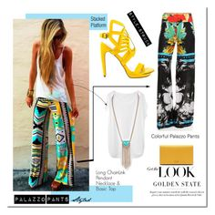 """Palazzo Pants Styled"" by style-struck ❤ liked on Polyvore featuring Gucci, Tsumori Chisato and Penny Loves Kenny"