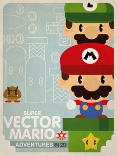 mario bros 2 fan art Art Print