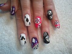 Vegas Baby hand painted nails
