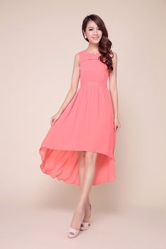 Chiffon hem maxi dress