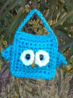 Crochet Owl Teal  Teresa  Free Shipping by TheTieDyedOwl on Etsy, $8.00