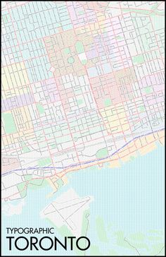 A map of Toronto's streets and neighbourhoods rendered using their names in type. By Ben Brommell.  Via blogTO.