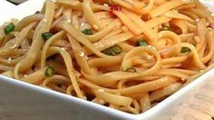 This homemade sauce makes a sweet and spicy foil for cooked linguine. The best sesame noodles I have every had!