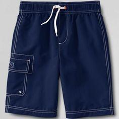 Lands' End Blue boys' cargo swim shorts- at Debenhams.com