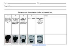 Student Self-Evaluation Sheet for Marzano's Levels of Understanding -- used with Marzano's Six-Step Process for Building Academic Vocabulary Student Self Evaluation, Student Self Assessment, Teacher Evaluation, Formative Assessment, Vocabulary Instruction, Academic Vocabulary, Teaching Strategies, Teaching Math, Teaching Ideas