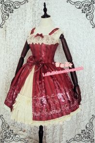 Aurora Sleeping Beauty Strawberry Witch Lolita Jumper Dress