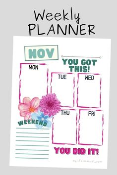 Looking for a pretty and colorful printable to help you organize and boost your day? This Free Weekly Planner Printable is perfect for you! #planner #freeplanner #printables #freeprintables