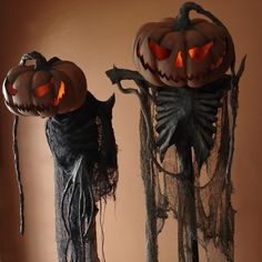 pumpkin scarecrows