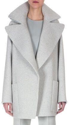 Akris Double-Faced Speckled Short Coat