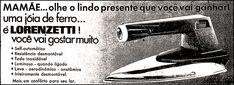 Anúncio ferro de passar Lorenzetti - 1971