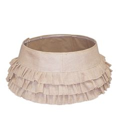 Holiday Cheer 26In Burlap Stand Band Ruffles