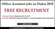 Office Assistant jobs in Dubai 2015