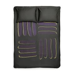 yellow/purple - Artist Duvet Covers and Pillows by Michele Rondelli Reverse Applique, Bed Duvet Covers, Bedding Collections, Home Textile, Art World, Luxury Bedding, Linen Bedding, Body Painting, Modern Design