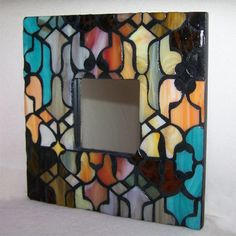 Stained Glass Mosaic Mirror. $76.00, via Etsy.