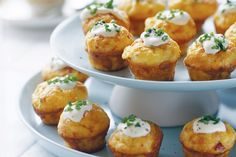Little pancetta and cheese frittatas recipe. Win or lose at the races, you'll back a winner with these tasty frittata bites! Finger Food Appetizers, Best Appetizers, Appetizer Recipes, Appetizer Ideas, Christmas Appetizers, Christmas Recipes, Christmas Finger Foods, Good Food, Yummy Food