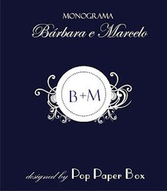 Monograma feito para os noivos Bárbara e Marcelo