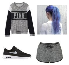 """""""Lazy day outfit"""" by kkendallloren on Polyvore featuring Topshop, Victoria's Secret and NIKE"""
