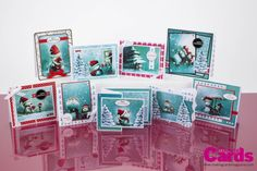 Make these cards using the free 'Best Friends' craft paper collection one of two sets exclusively by Making Cards magazine and provided free with the December edition.