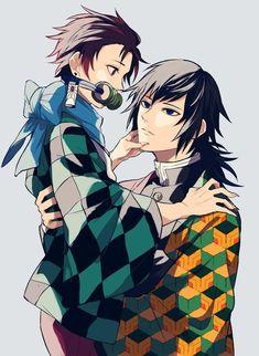 ❥- Imagenes de esta pareja formada por Tanjirou Kamado (竈門 炭治郎) y Giyuu Tomioka (冨岡 義勇) Manga Anime, Fanarts Anime, Anime Demon, Anime Characters, Anime Art, Otaku Anime, Demon Slayer, Slayer Anime, Me Me Me Anime